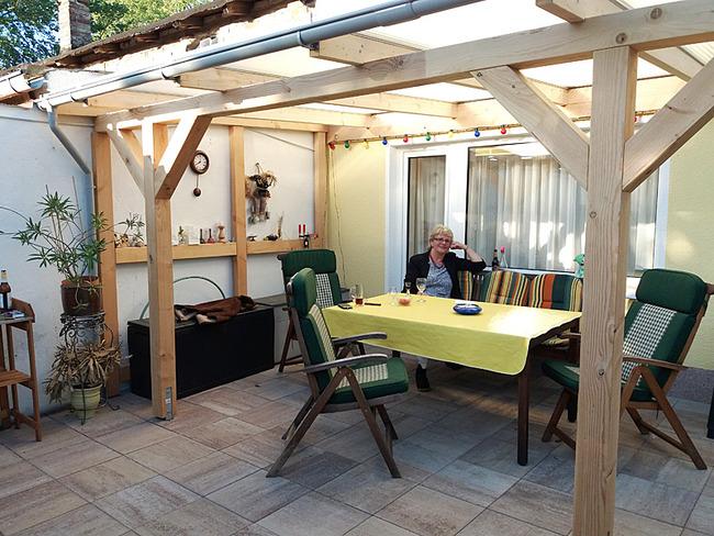Terrasse am Ferienhaus Falkert