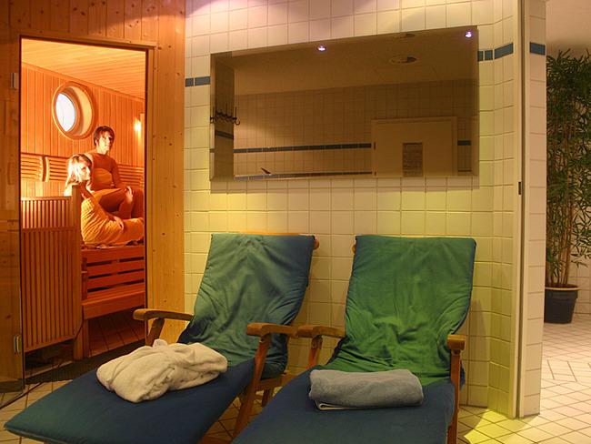 Sauna im Appartement-Haus