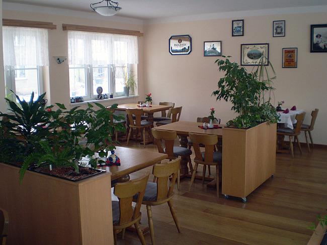 Gastraum in der Gaststätte Klabautermann