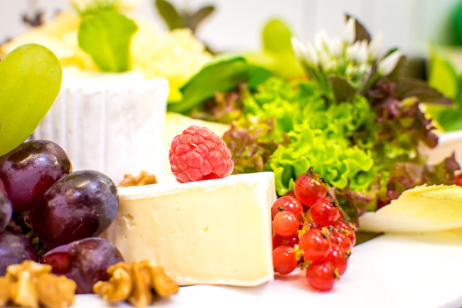 Käse-Obst Platte