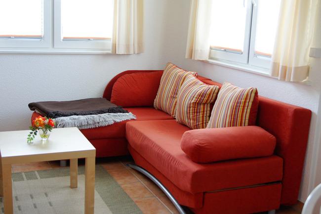 Wohnzimmer im Bungalow