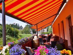 Terrasse vom Hotel