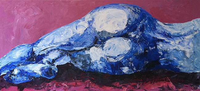 Malerei Blauer Akt