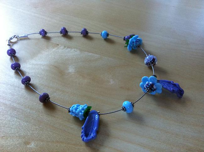 Glaskunst leichte Perlenkette