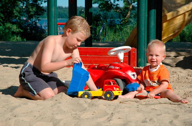 Drewensee - spielende Kinder