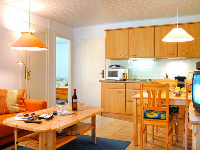 Ferienhaus am Weißen See Wohnküche