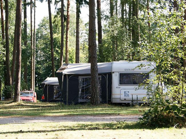 Mietwohnwagen Campingplatz Useriner See - außen