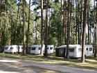 Mietwohnwagen Campingplatz Useriner See im Wald