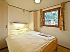 Mobilheim Chalet Schlafzimmer