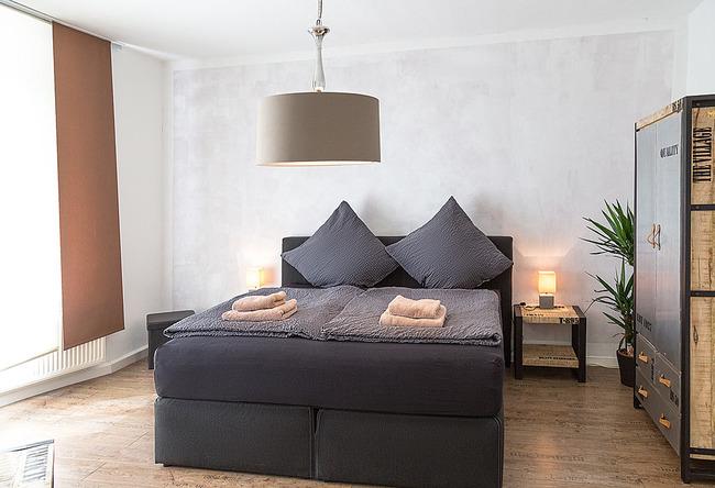 Fewo Uferpromenade - Schlafzimmer