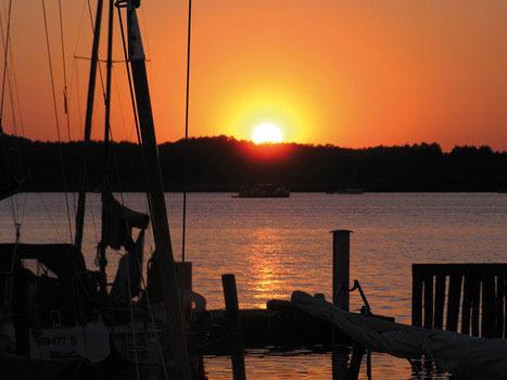 Sonnenuntergang - Hafen