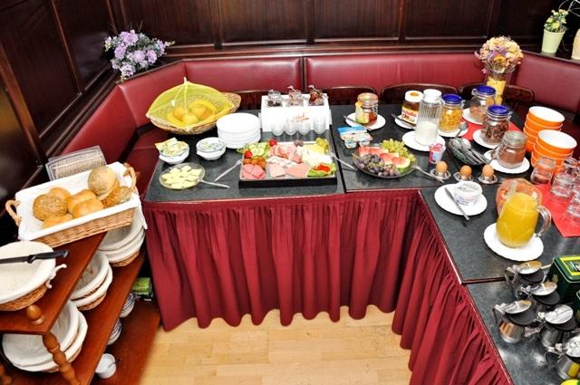 Frühstück vom Büfett
