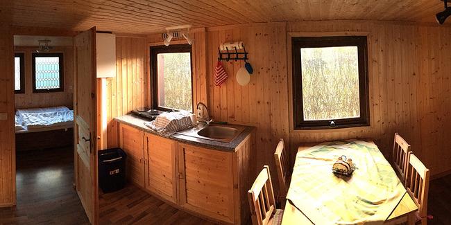 Mobilheim - Küche und Wohnen