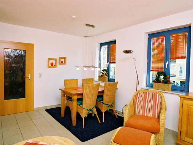 Ferienwohnung Backbord - Wohnzimmer