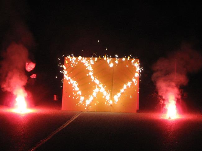 Feuerwerk - Herzen