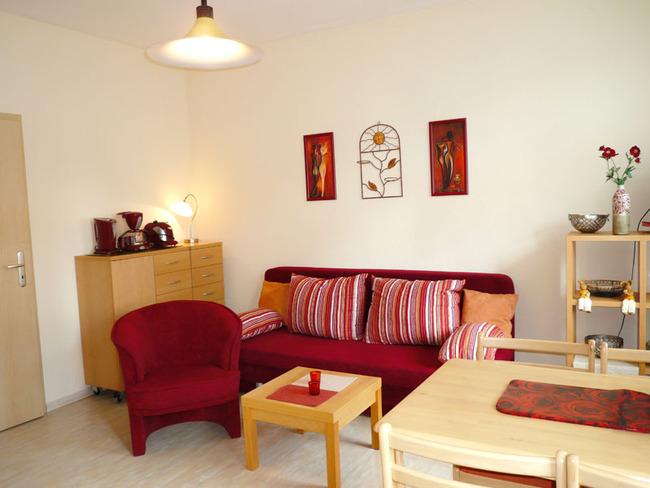 Rote Rose - Wohnzimmer