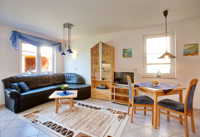 Wohnzimmer - Appartement im Ferienhaus Nils Boltenhagen