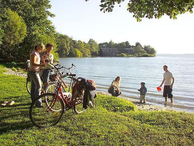 Badestelle am Schweriner See im Mecklenburg