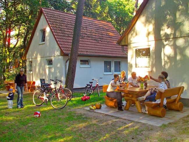 Ferienhaus - Terrasse im Ferienpark Retgendorf