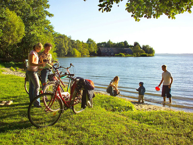 Radfahrer am Schweriner See