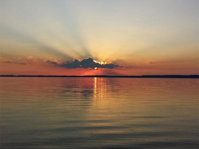 Sonnenuntergang über Schweriner See