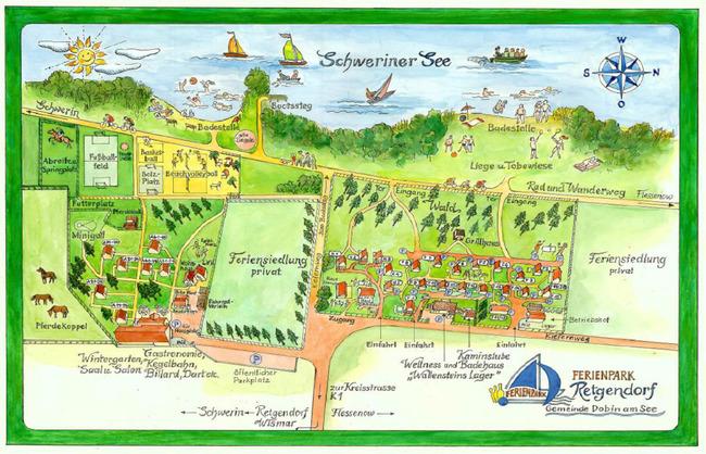 Lageplan vom Ferienpark Retgendorf
