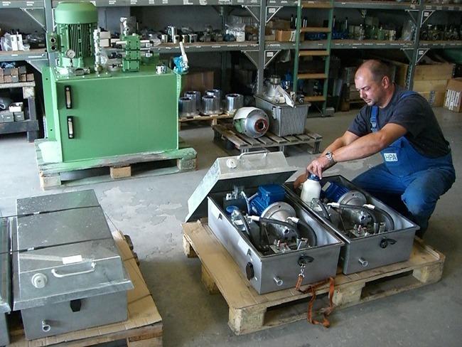 Hydraulikaggregat für Weichenverstellung