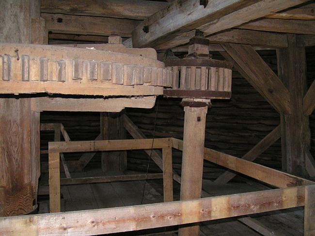 Zahnräder in der Mühle
