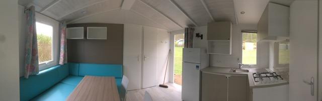 Mobilheim Küche-Wohnbereich