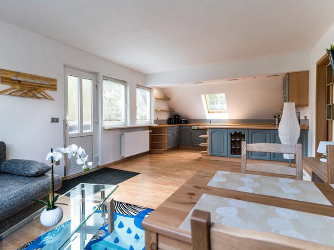 Ferienwohnung - Wohnraum, Küche