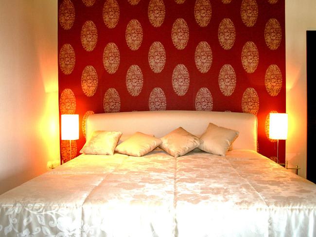 Fewo Seeblick Schlafzimmer mit großem Doppelbett