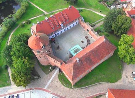 Luftansicht der alten Burg Neustadt-Glewe