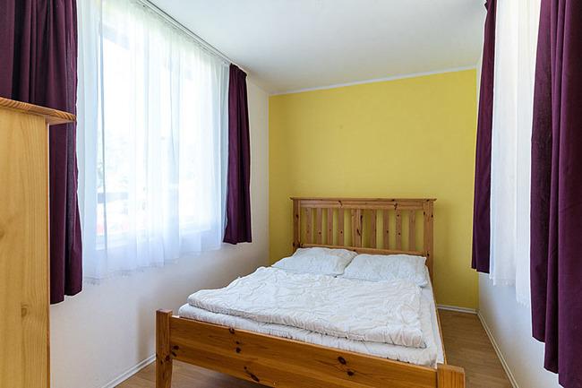 Schlafzimmer im Bungalow
