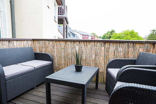 App Seepromenade Balkon