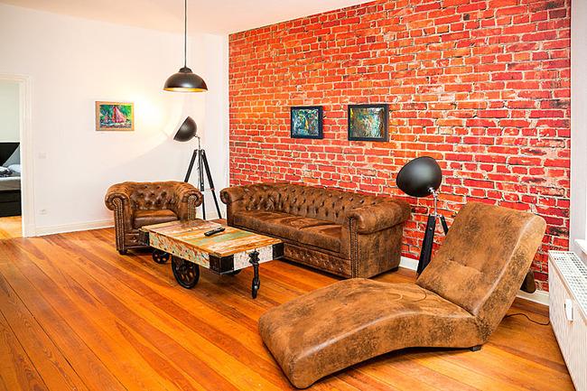 App Seepromenade Wohnzimmer stilvoller Sitzecke