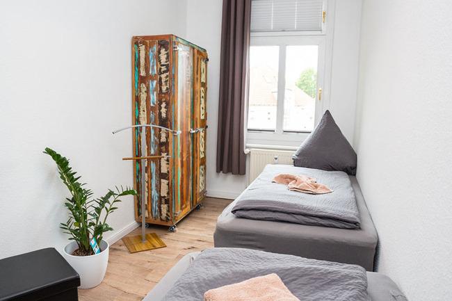 App Seepromenade Kinderzimmer mit zwei Einzelbetten
