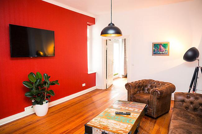 App Seepromenade Wohnzimmer mit TV