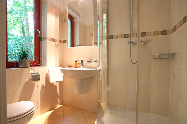 Fewo Ahorn - Bad mit Dusche, Waschbecken und WC