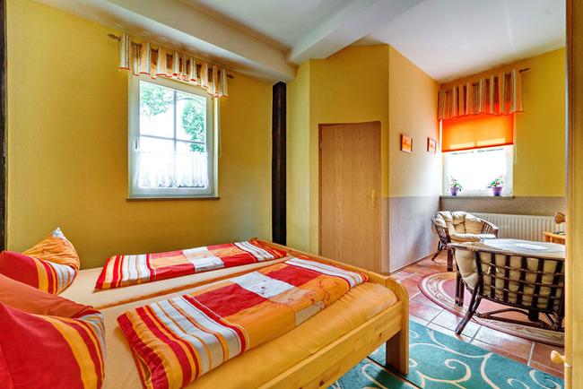 Zimmer für 2 Personen mit einem Doppelbett
