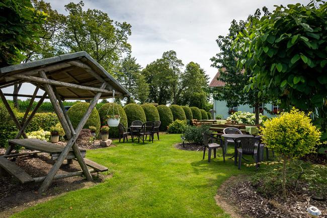 Garten der Pension
