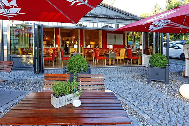 Terrasse im Restaurant