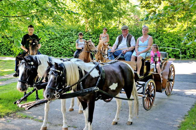 Reiter und Kutsche