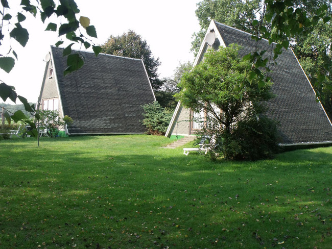 Finnhütten - Aussenansicht mit Terrasse
