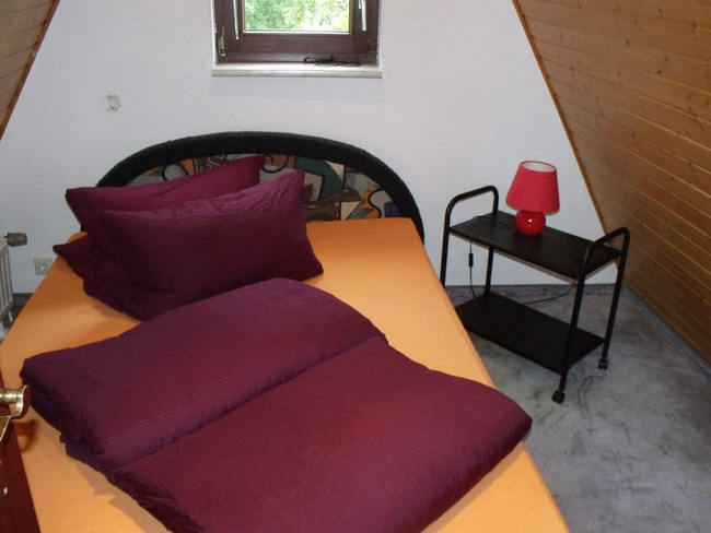 Schlafzimmer in den Finnhütten