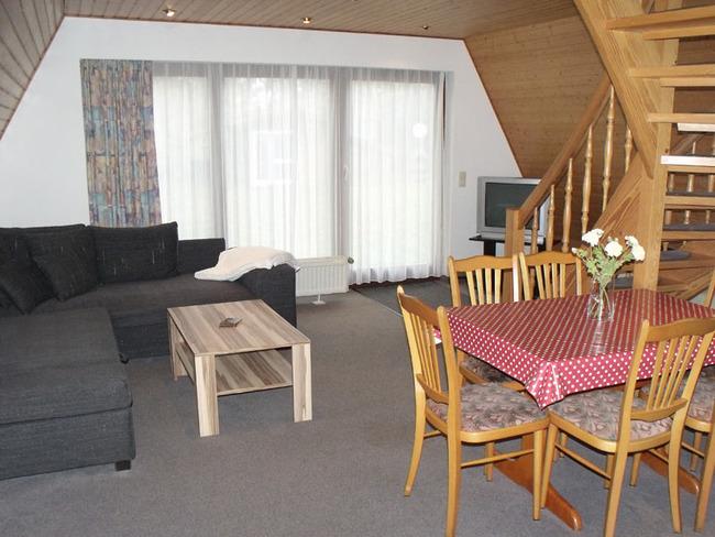Wohnraum in den Finnhütten