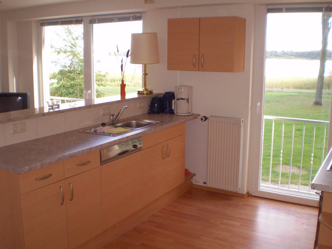 Ferienwohnung - Wohnraum mit Küchenzeile