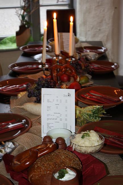 dekorierter Tisch im Restaurant