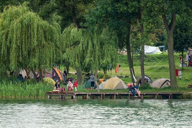Zelten direkt am Wasser