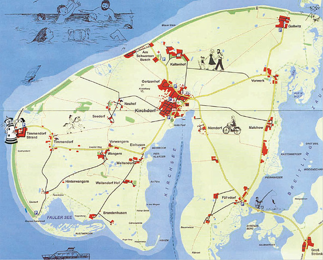 Karte der Insel Poel