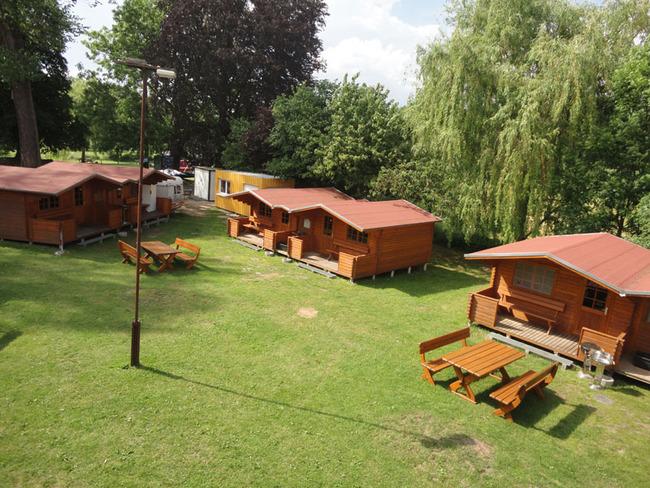 Blick auf das Camp